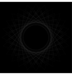 Straight lines in a spiral shape vector