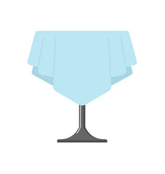 Table on one leg with tablecloth isolated cafe vector