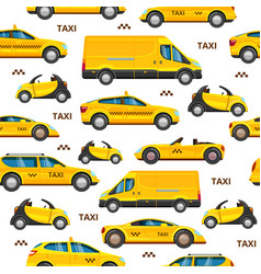 taxi cars seamless pattern collection service vector image