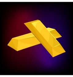 Two gold bars icon cartoon style vector image
