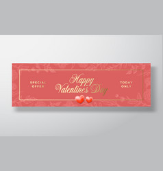 valentines day special offer sale abstract vector image