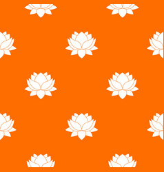 water lily flower pattern seamless vector image