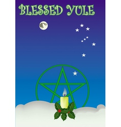 blessed yule vector image vector image