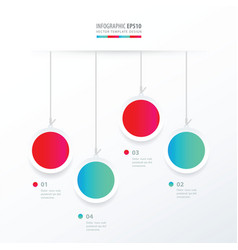 circle hanging concept blue and pink color vector image vector image