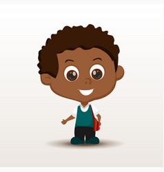 schoolboy with rucksack vector image
