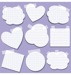 Set of paper stickers with tape vector image vector image