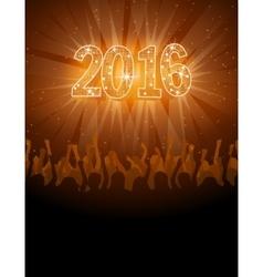 2016 happy New Year disco flyer vector image