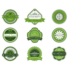 Bio and ecological labels set vector image