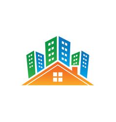 buildings real estate logo image vector image vector image