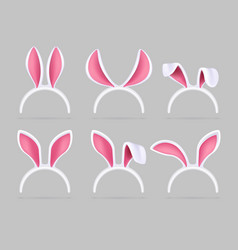 Bunny ears mask easter rabbit costume photo booth vector