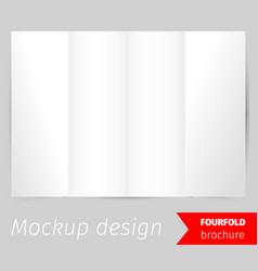 Fourfold brochure mockup design vector
