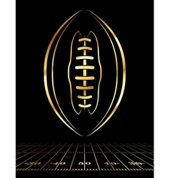 Golden American Football Vertical vector image