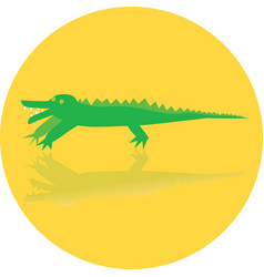 icon toy of crocodile vector image