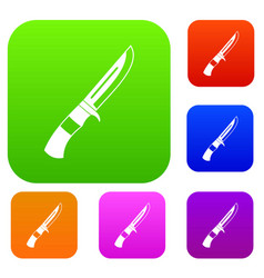 knife set collection vector image vector image