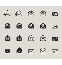 Mail envelope web icons set vector image vector image