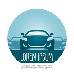 car logo design template transport or vector image vector image