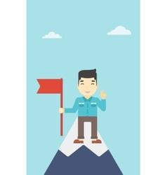 Cheerful leader businessman vector image