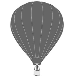 Grey hot air balloon vector image