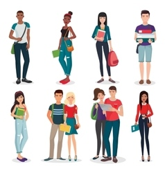 International university or college group of young vector image