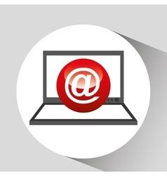laptop display concept mail media design vector image