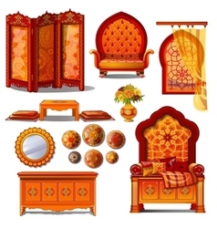 Rich luxury furniture in Oriental style vector image vector image