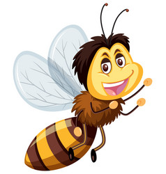 A happy bumble bee vector