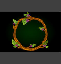 a round flowering wreath of vector image