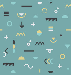 Abstract retro geometrical modern symbols pattern vector