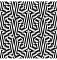 Abstract striped shapes Seamless pattern vector image