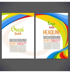 Abstract template design brochure vector image