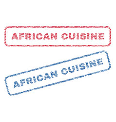 african cuisine textile stamps vector image