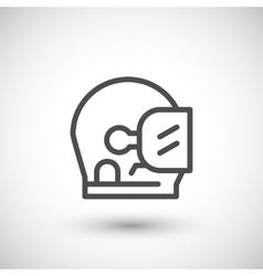 Astronaut helmet line icon vector