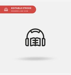 Audiobook simple icon symbol vector