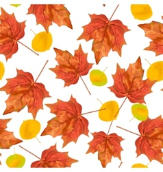 autumn leaves seamless pattern texture vector image
