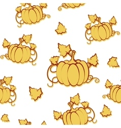 Autumn seamless pattern with pumpkin and vector