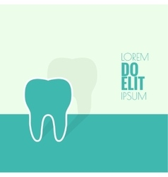 Background with tooth vector image