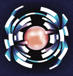 ball extension movement volume space grid abstract vector image vector image