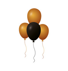 balloons decoration on white background vector image