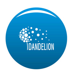 Beautiful dandelion logo icon blue vector