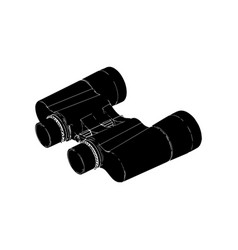 binoculars on a white background vector image