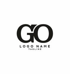 black go initial letter logo vector image