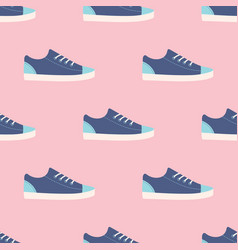 Blue sneakers seamless pattern vector