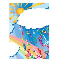 candy rain and sun card vector image