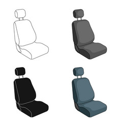 Car seatcar single icon in cartoon style vector