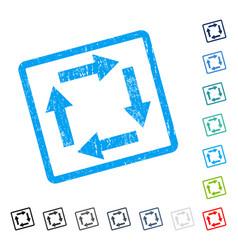 Circulation arrows icon rubber watermark vector
