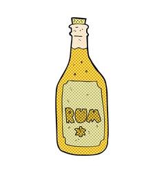 Comic cartoon rum bottle vector