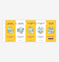 Decluttering advices onboarding template vector