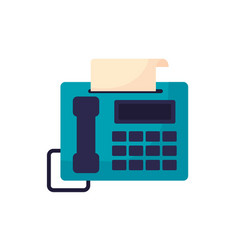 Digital telephone with fax service vector