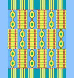 Ethnic seamless pattern cloth kente vector