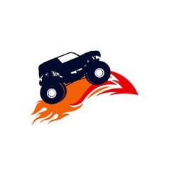 Extreme monster truck logo monster truck vector